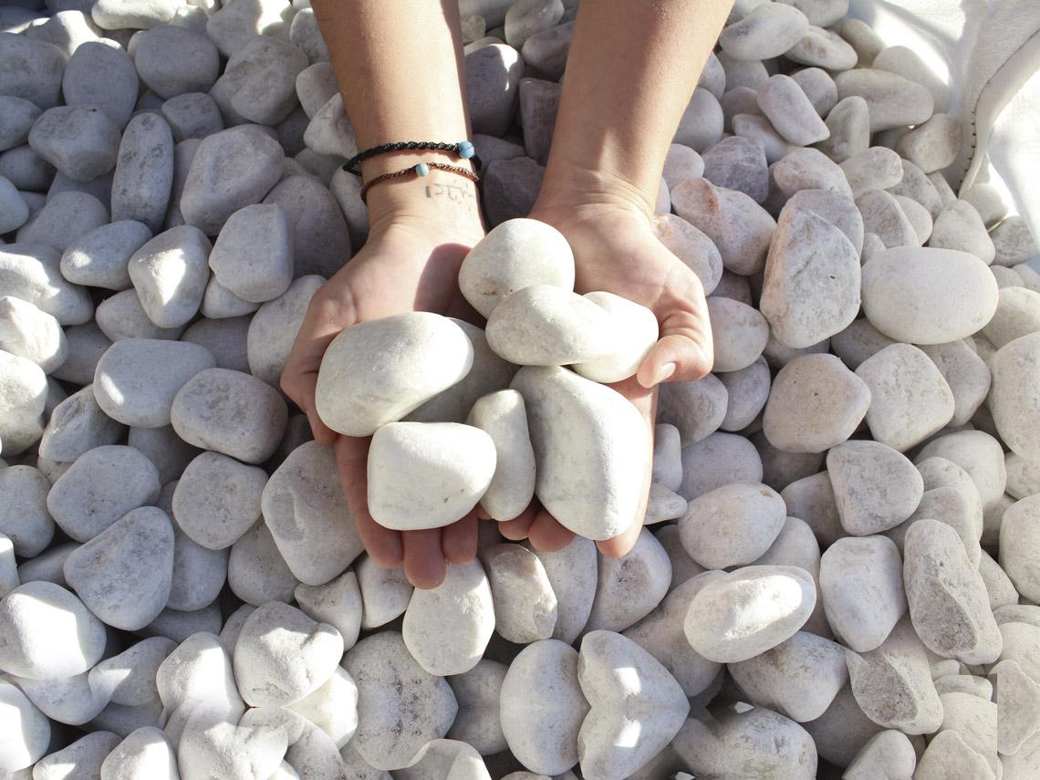 canto rodado blanco piedra precio